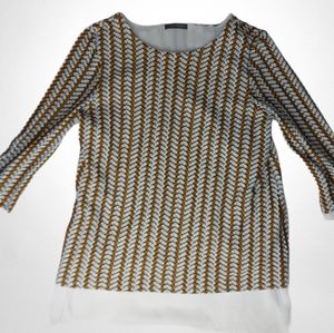 🌼3/$30 Suzy Shier Layered Textured Blouse Large